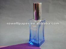 55ml blue square glass perfume botter, glass bottle