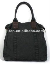 2012 New fashion design high capacity multi color cotton canvas ladies' hangbag