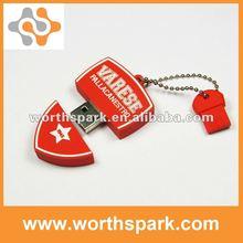 real capacity OEM PVC custom design promotion gift USB