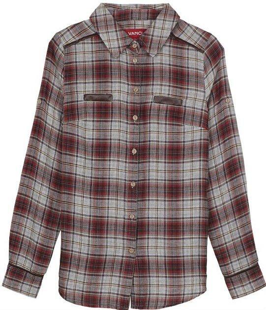 De algodón a cuadros de tela occidental/camisa casual para la mujer