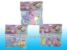 3 assort plastic baby swing bell cartoon baby hand bell