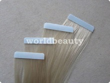 """24"""" remy hair blonde color adhesive tape weft"""