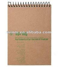 kraft hardcover spiral notebook