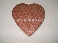 2012 GYY Silk lid heart shape box