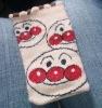 lovely kintted cell phone socks