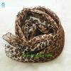 newest fashion leopard cool scarf silk display CX-01