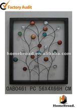 HOMEBROAD 2012 metal square wall art with acrylic flower