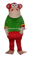red ape with green jacket mascot costume