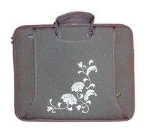 black neoprene laptop bag