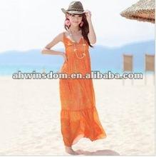 2012 fashion Bohemian chiffon braces long style skirt