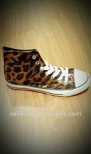 2012 fashion golden leopard women high-top casual shoe