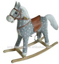 large size grey with white dot rocking horse