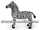 cute plush and stuffed animal toy zebra standing