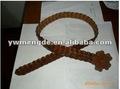 la moda de la pu trenzado cinturón equipara