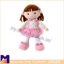 cute little girl with pink dress adorable innocent girls doll