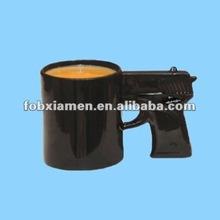 ceramic gun shaped handle novelty mug