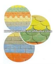 coloured asphalt shingle roofing