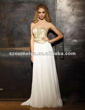 OEE312 Chiffon Beaded Arabic Evening Dresses 2012