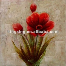 Romantic red roses flower oil painting on canvas