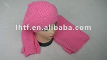 Classic! fashionable knitted scarf and hat