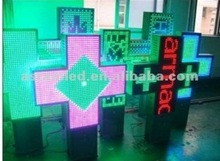good effect and cheaper 3G gprs wifi wireless remote dual color led sign 3d light box cross