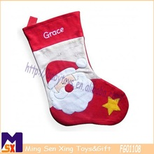 Santa christmas decoration personalised christmas stocking