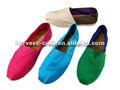nuevo 2012 blanco lona plana zapatos de mujer
