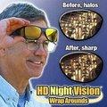 Hd preto de óculos de sol amarelo lentes de visão noturna de condução