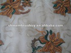 polyester mesh /tulle with machine embroidery fabric for dresses