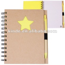 2012 Promotional Eco Recycled Die Cut Spiral Notebooks