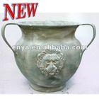 Lion Head Flower Pot with handles, 2012 New Design Planter