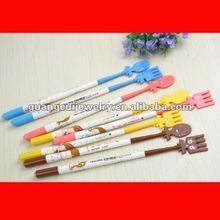 fashion scoop fork pens plastic