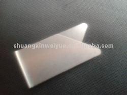 stainless silver metal Billfold silver billfold