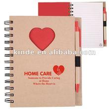 2012 Popular Eco Friendly Jounal Notebook with pen
