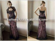 Popular Beaded Jacklet Black Lace Bridal Mother Dress