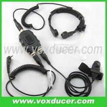 For Kenwood 2 way radio TK-260G aviation plug motorcycle PTT throat mic
