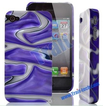Luxury Dazzle Colour Shell Design Hard Back Cover for i Phone4 Case / iPhone 4S