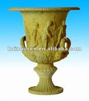 Decorative clay resin urn , resin flower pot