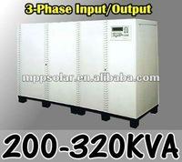 200~320kva 3 Phase input/output three phase online UPS 380V inverter
