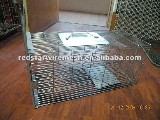 Hayvan tel canlı kapanı kafes( fare, tavşan, sincap, tilki, Rakun)