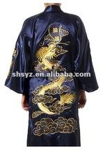 Chinese style Robe Gown Kimono Bathrobe Sleepwear with Dragon