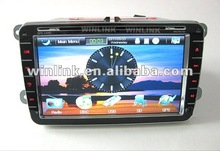 2012 For sale 8 inch 2 din digital screen with GPS function car DVD navigation for VW WL-7658
