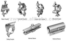 Construction BS1139 scaffolding pressed sleeve coupler
