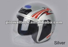 Prowel Silver Color Motorcycle Racing Open Face Helmets/ ABS or PP Motorcycle Helmets