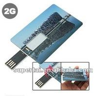 hot sell water proof credit card flash drive 1gb 2gb 4gb 8g,custom logo optional b