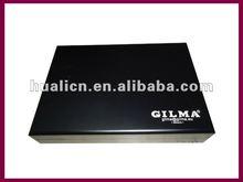 matt black finish wooden gift packaging box