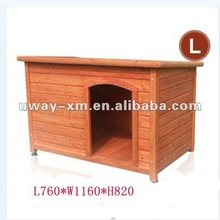 UW-WH-002-L large wood pet house for dogs, made of China fir,suitable for large dogs