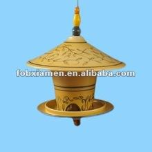 ceramic hanging house shape bird feeder