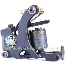 professional dazzle black carbon foundry steel casting tattoo machine body art