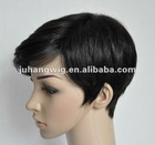 Human hair Men short fashion wig